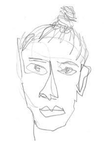 Portrait Ilka Berger Zeichnung