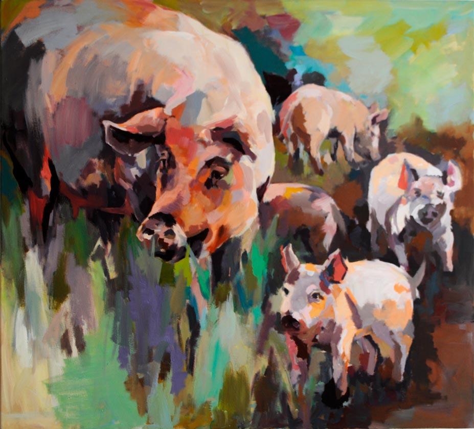 """Schweine""  Doris Goldbach"