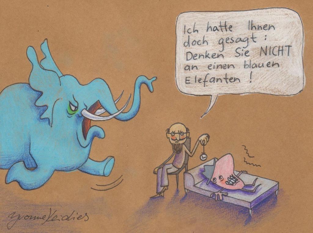 Yvonne Keidies Blauer Elefant